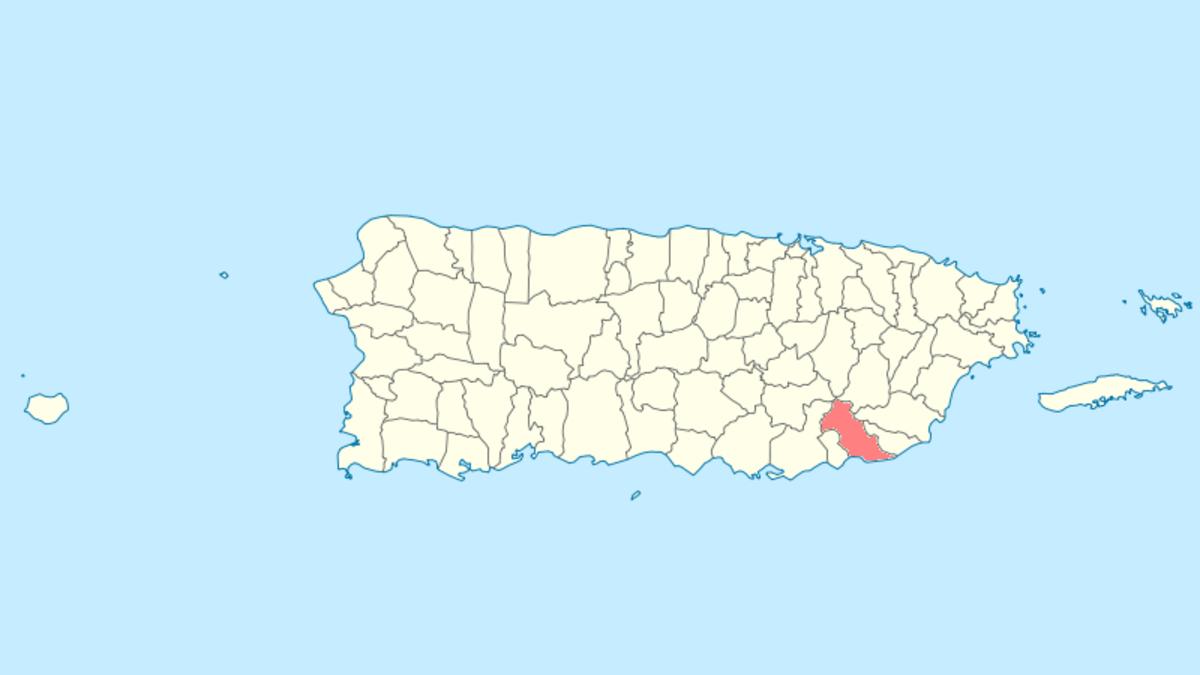 Patillas, PR map