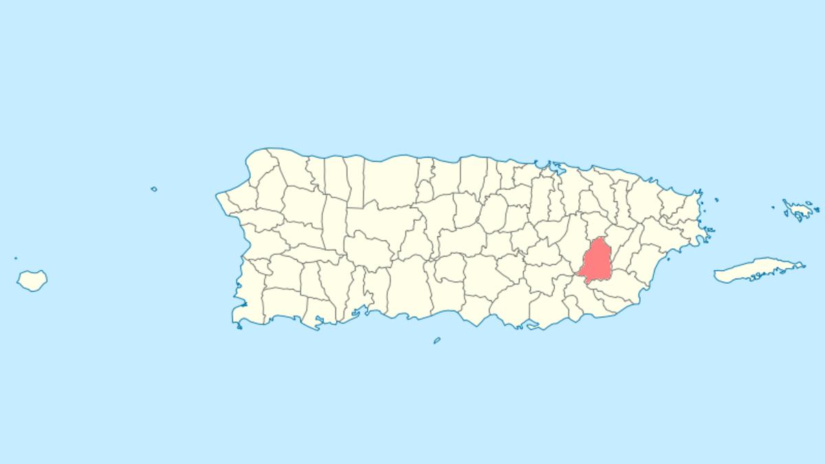 San Lorenzo, PR map
