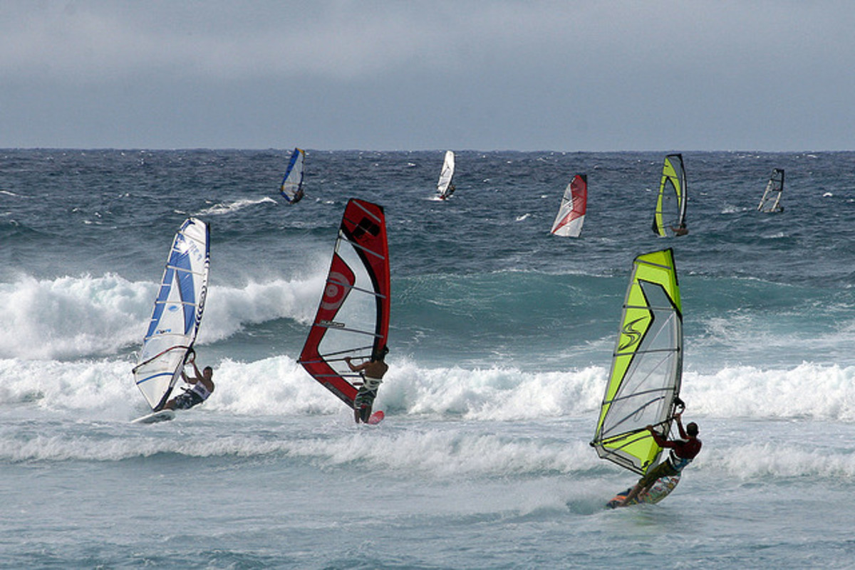 Paia's windy coastline