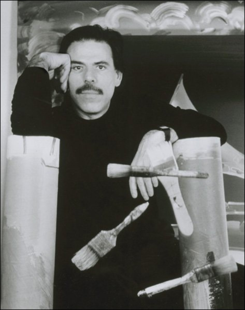 Artist Peter Max, whose works are frequently auctioned on cruises.
