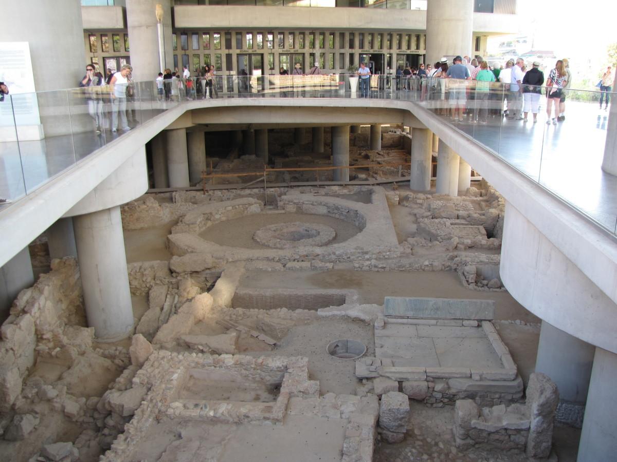 Ruins below the museum
