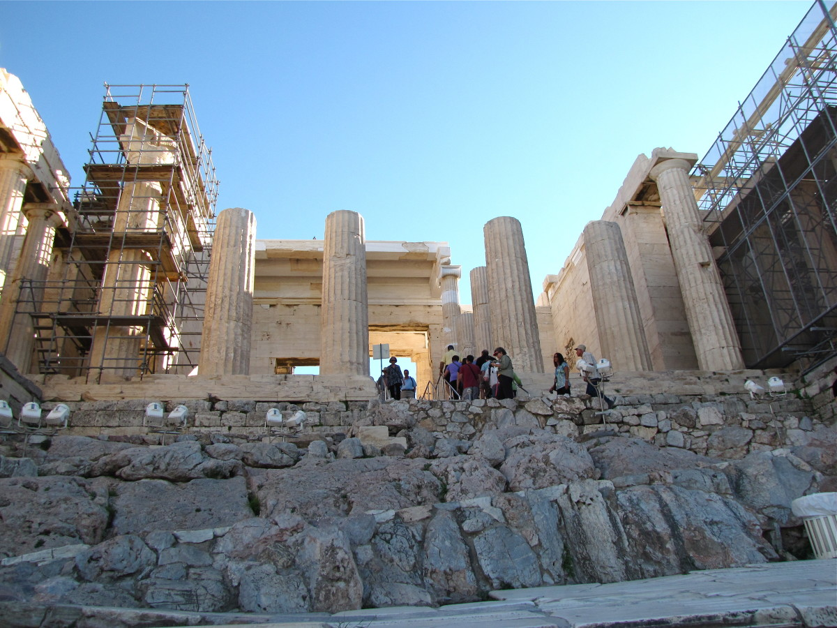 The climb up to the Propylaea
