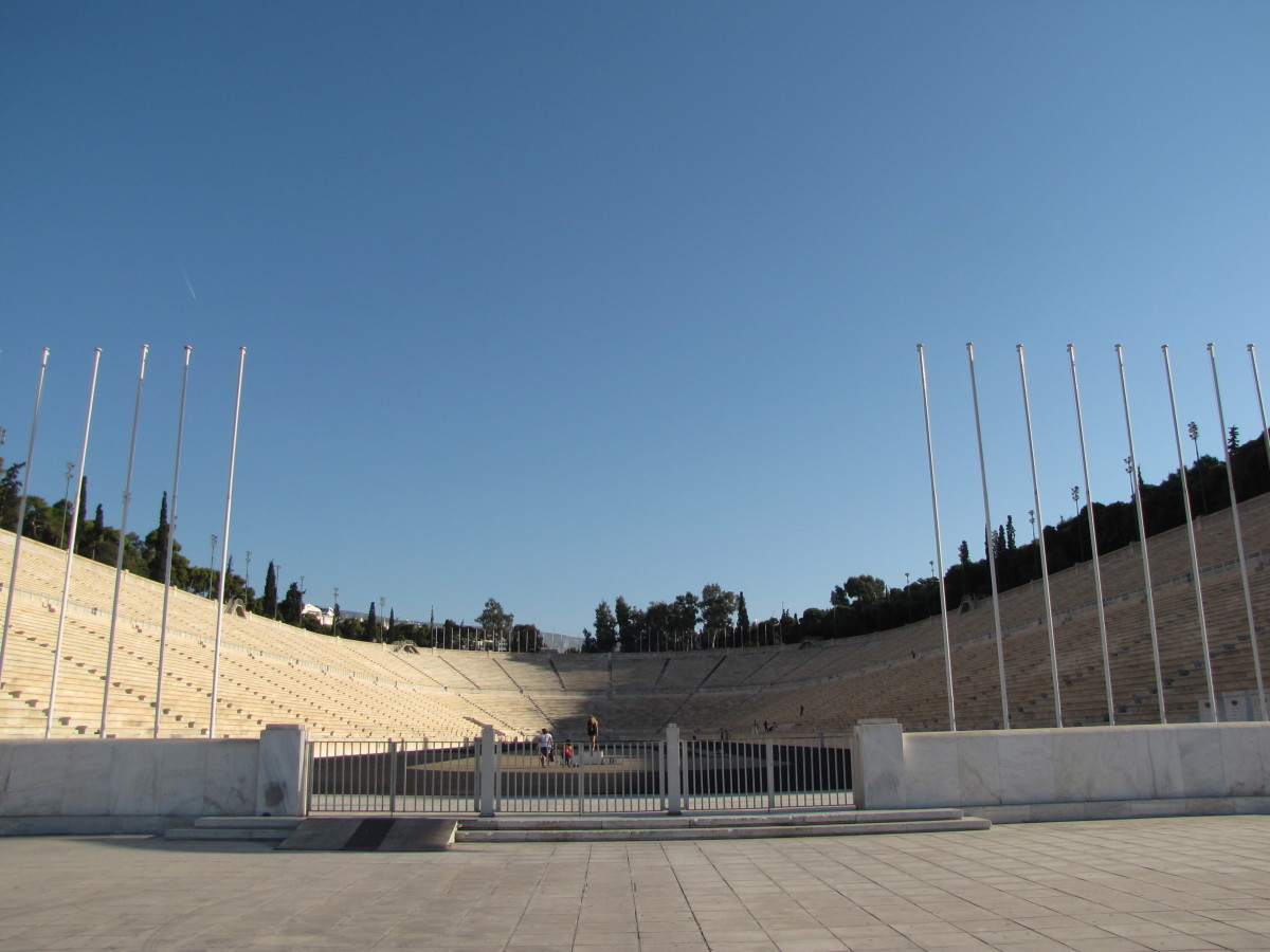 Olympic Stadium used in 1896 for the first modern games