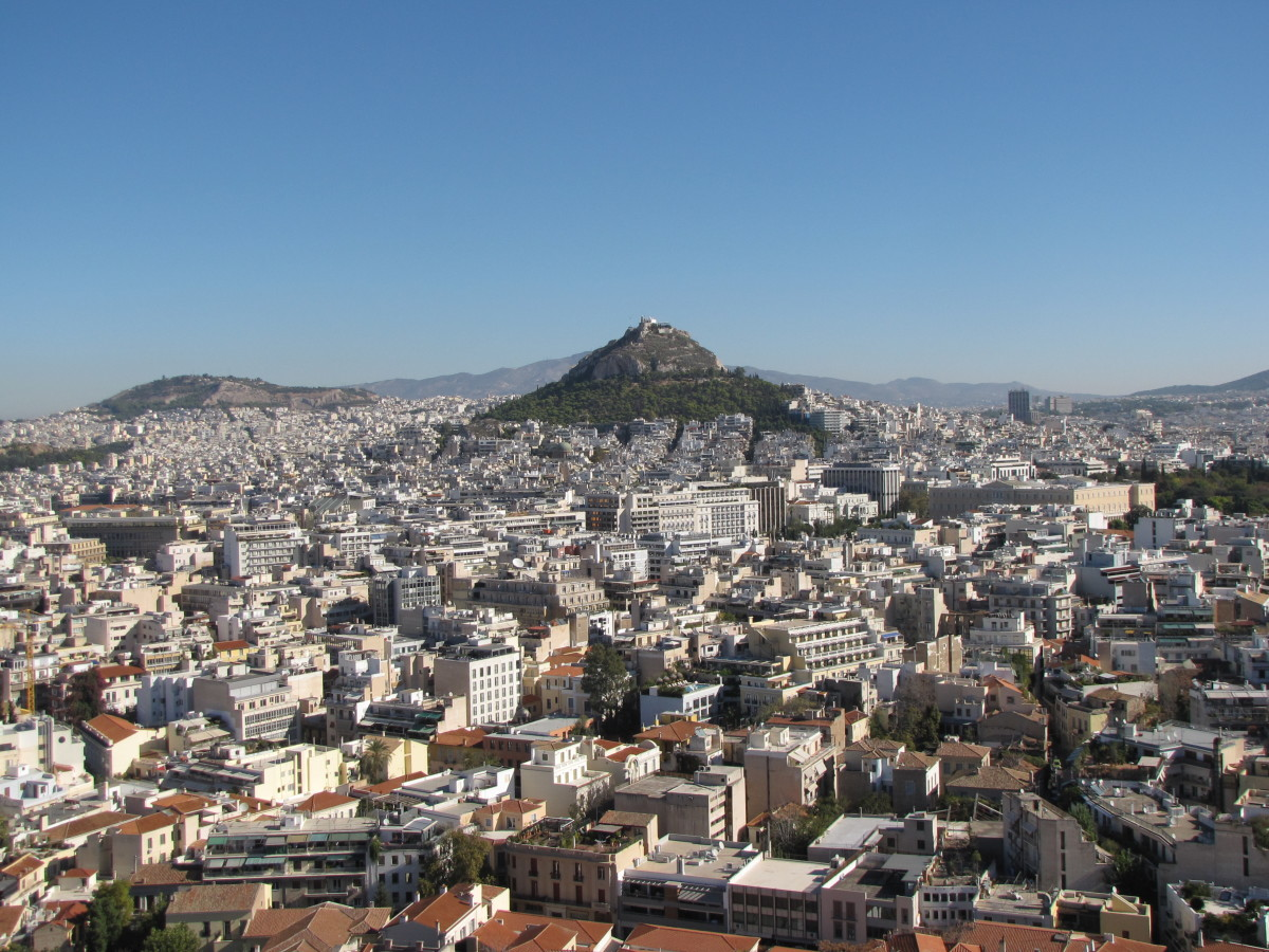 View of Athens from atop the Acropolis