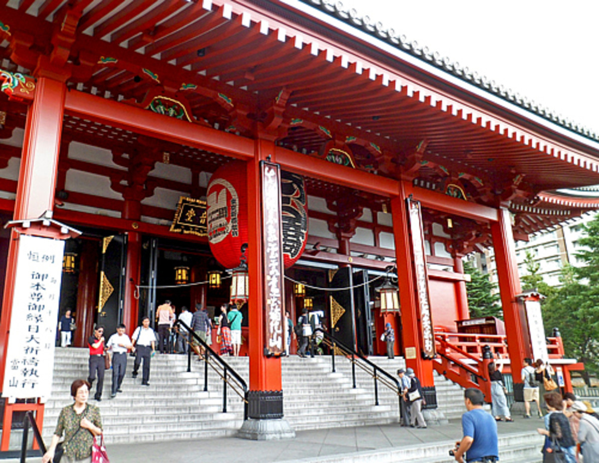 Entrance to Sensoji Temple's main hall