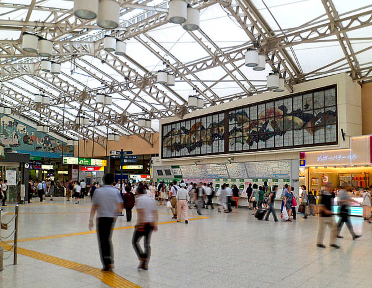 Inside Ueno subway station