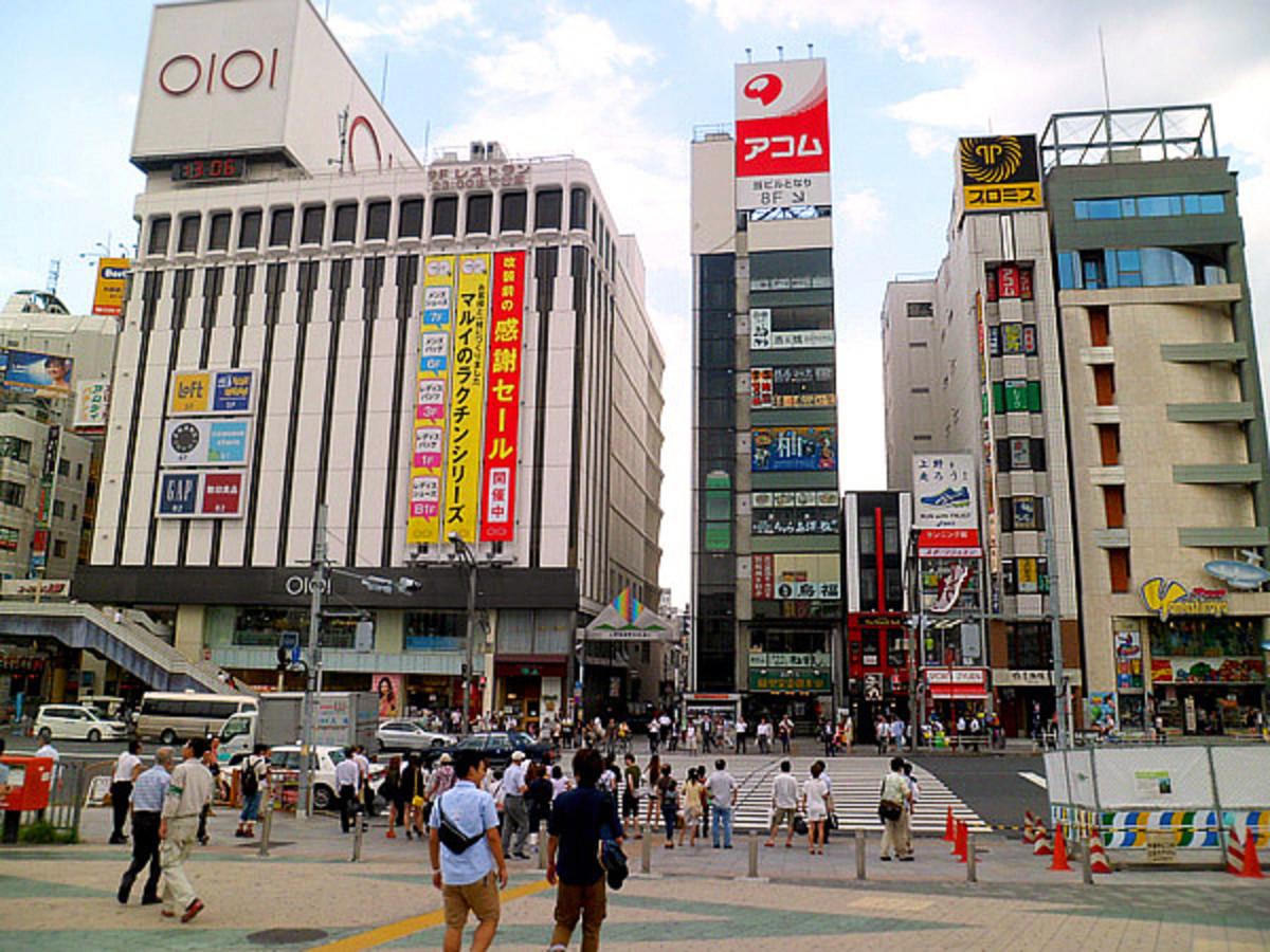 Chuo-Dori Street across from Ueno subway station