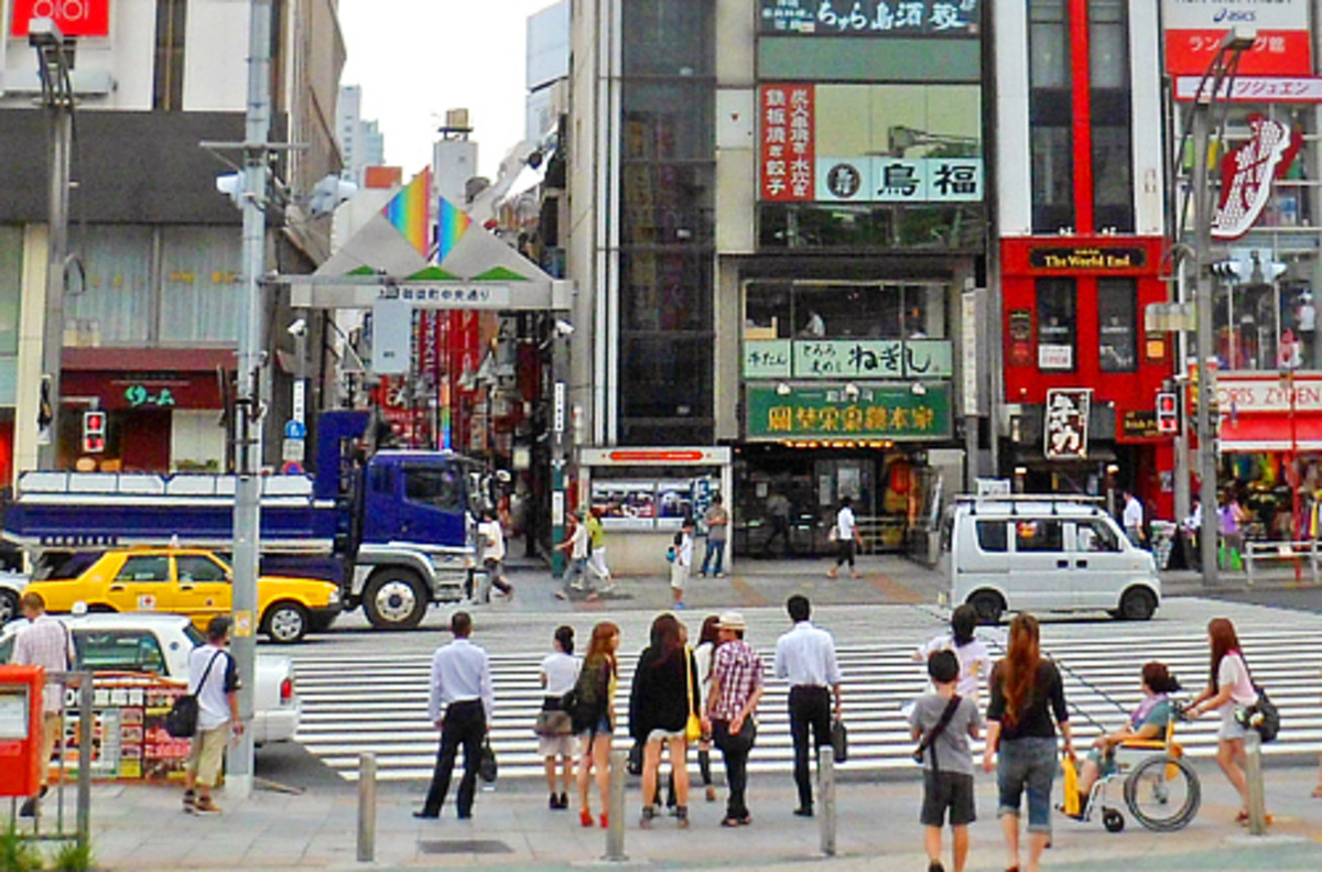 Shops and restaurants along Chuo-Dori Street