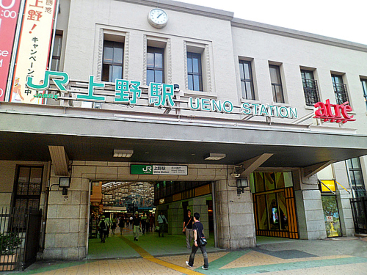 Ueno JR subway station