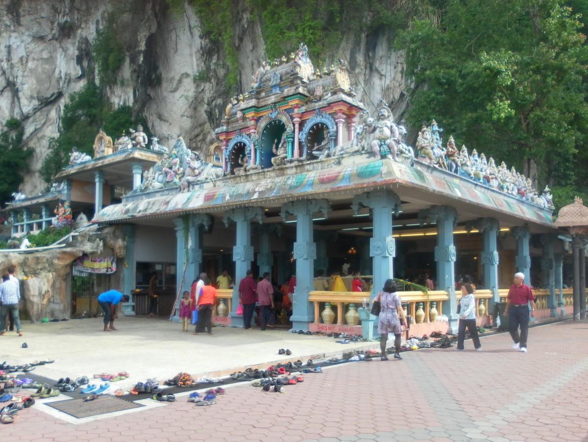 Hindu temple near the entrance.