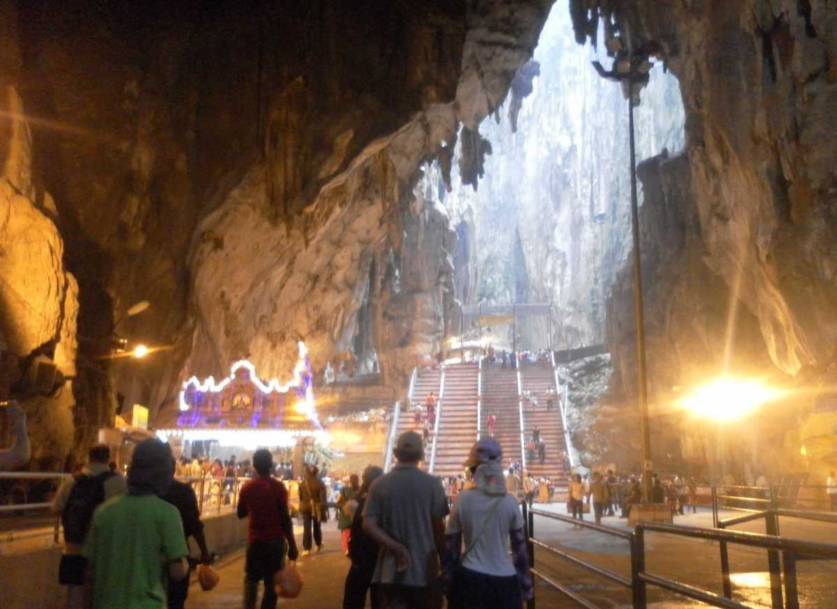 Inside the big Temple Cave