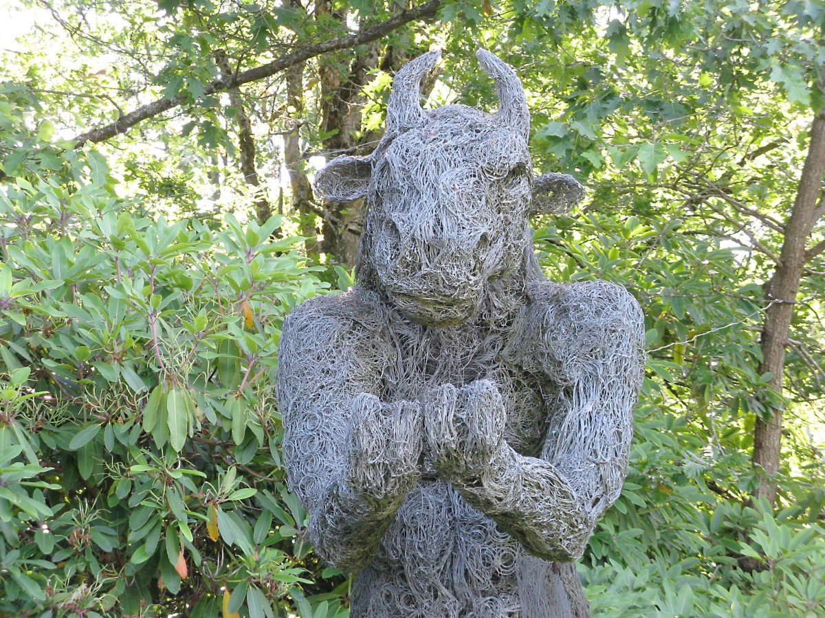 Part of a Minotaur sculpture