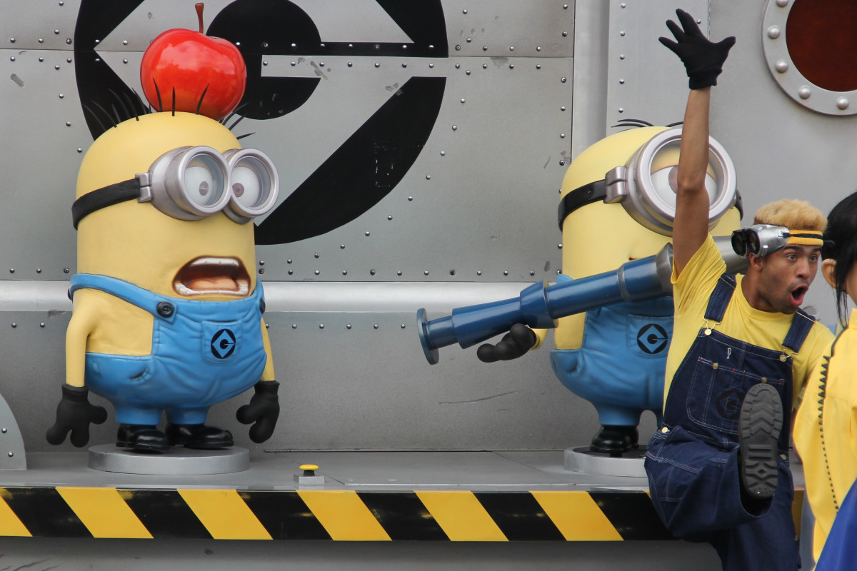 My three-year-old became obsessed with minions on the trip.