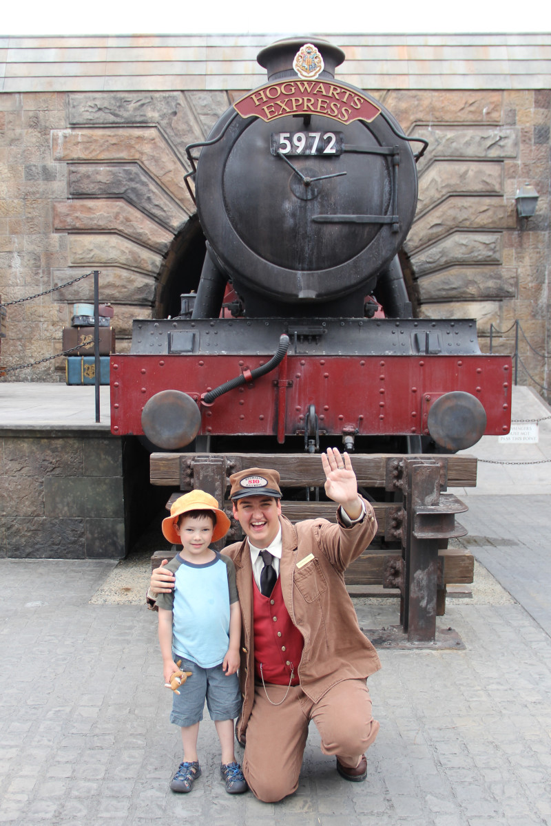 This replica of the Hogwarts Express was replaced with a ride right after we visited.