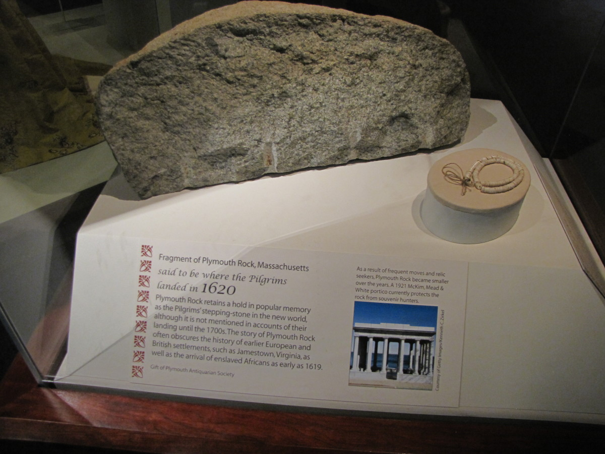 A piece of Plymouth Rock