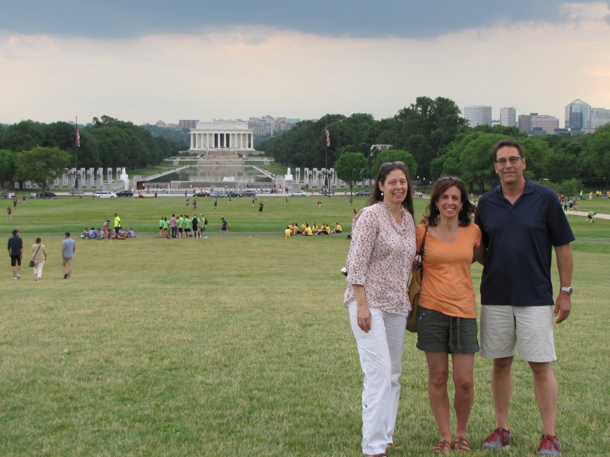 On the Mall heading to  the WWII and Lincoln Memorials