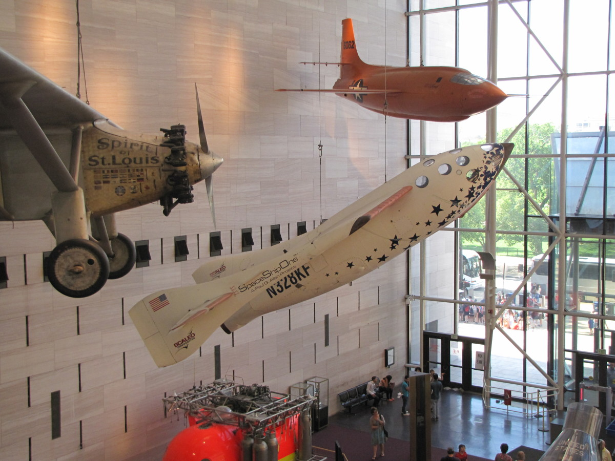 Spirit of St. Louis and Space Ship One