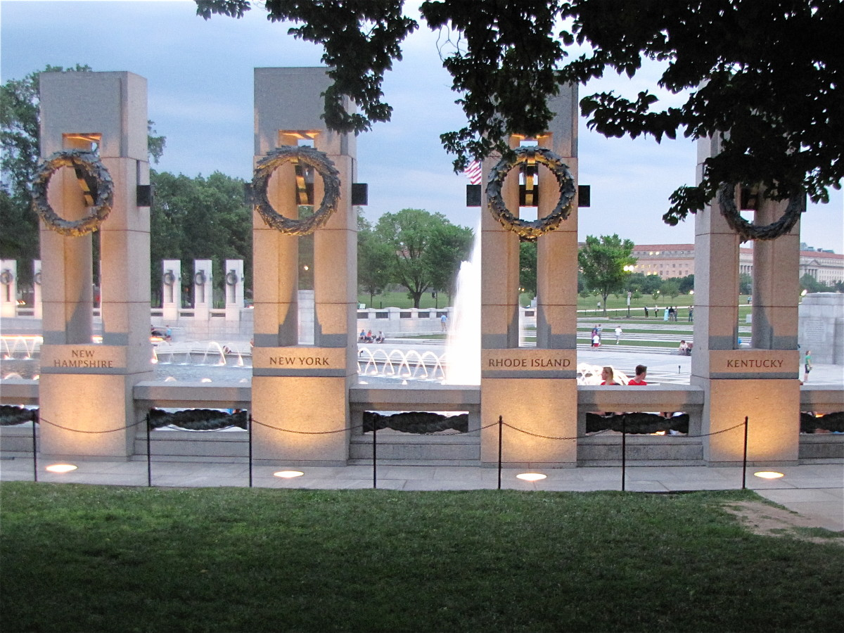 Granite Pillars of the World War II Memorial