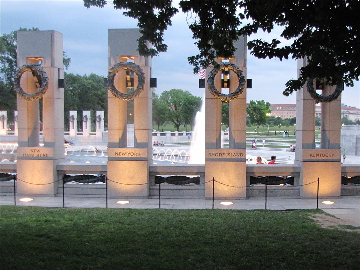Granite Pillars of the World War II Memorial