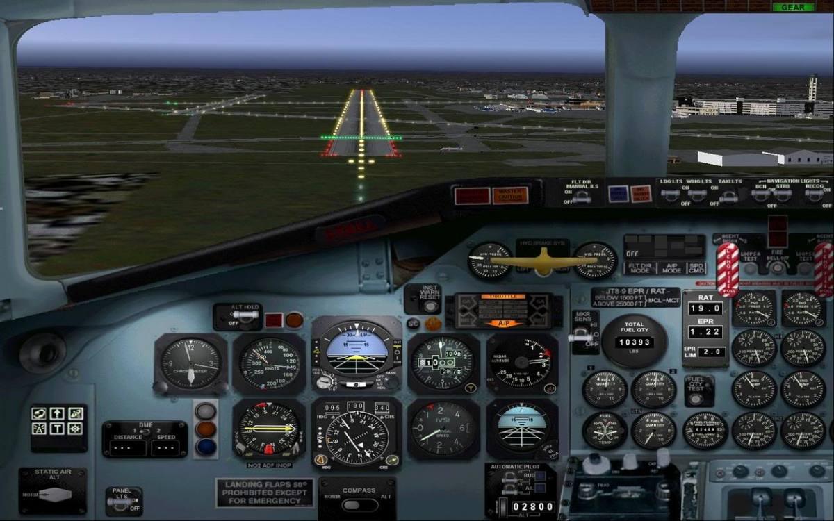 DC9 Landing Cockpit View
