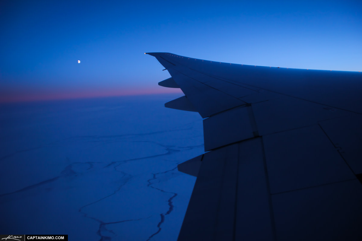 Night Flight Airplane View