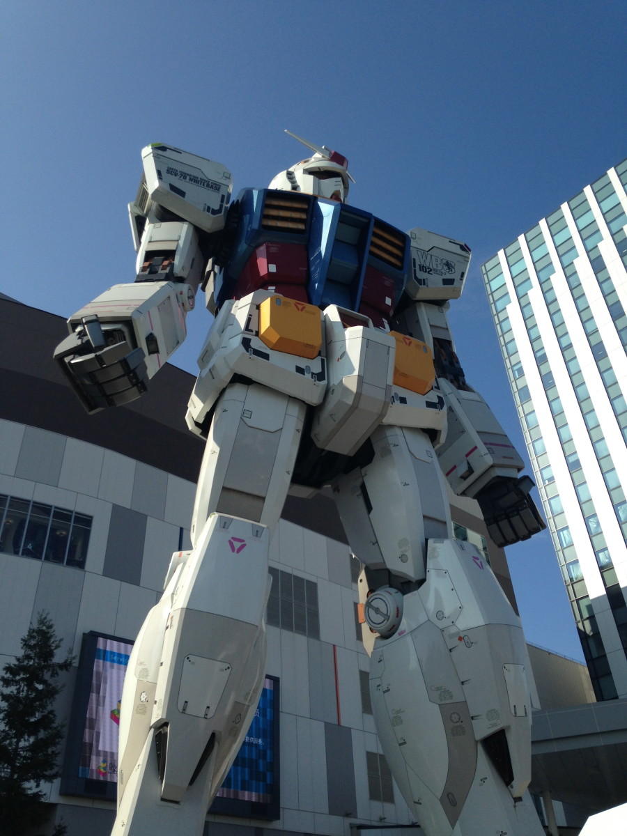 What is an article about Japanese engineering without a mention of giant robots. Odaiba is currently home to a 1/1 scale, 18 meter high Gundam statue.