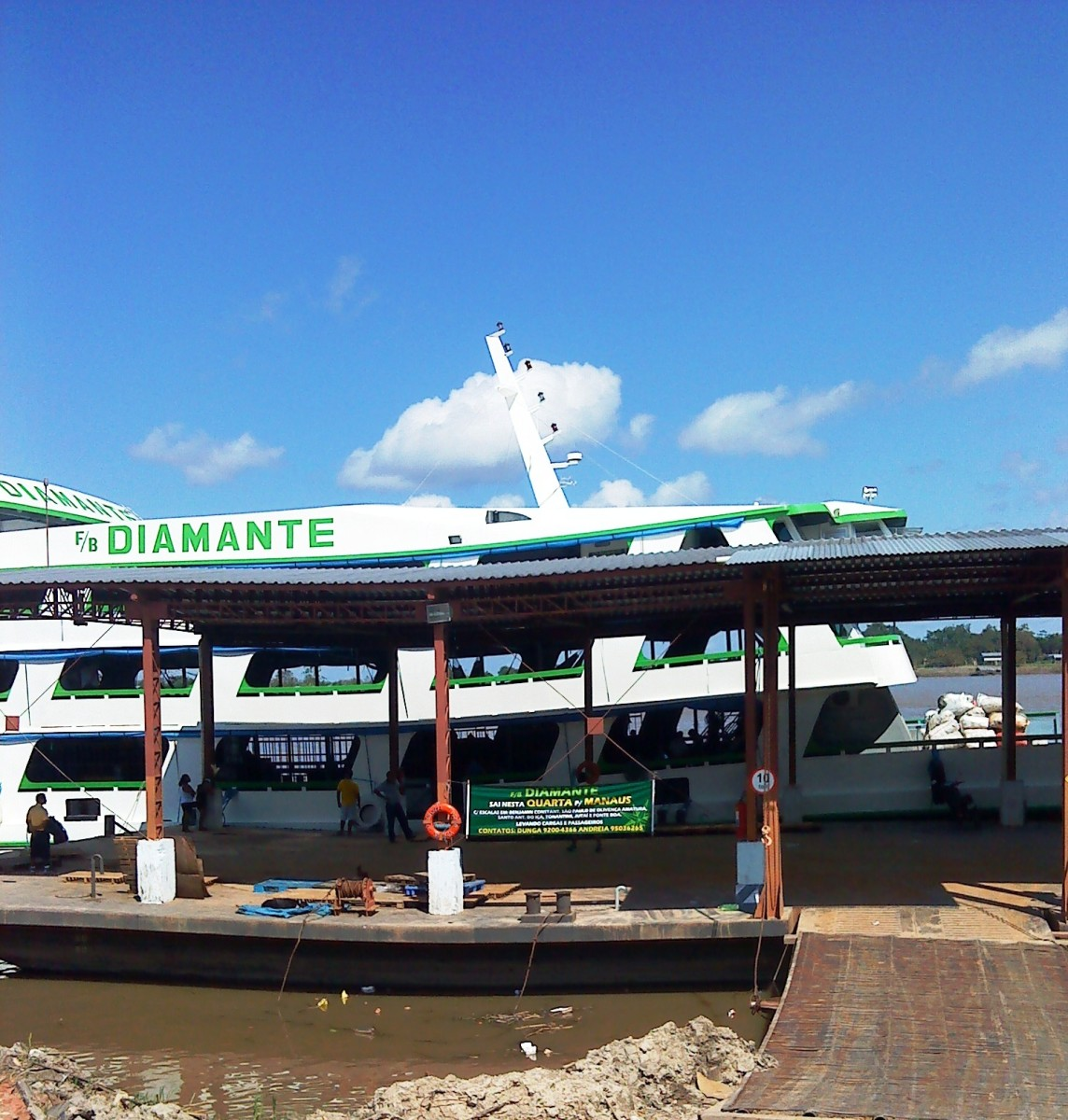 The Diamante at Dock in Tabatinga