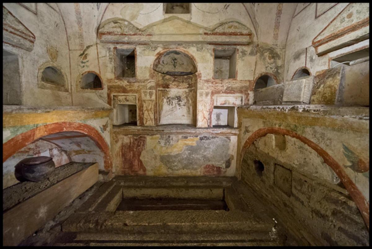 Interior of a Roman Tomb in the Necropolis
