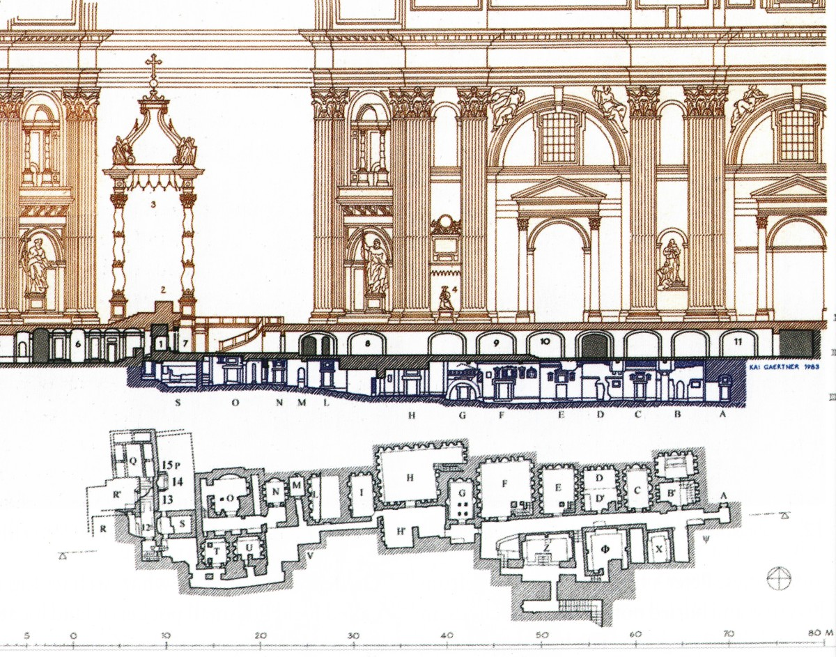 Layout of the Necropolis under the Grotto and St. Peter's Basilica