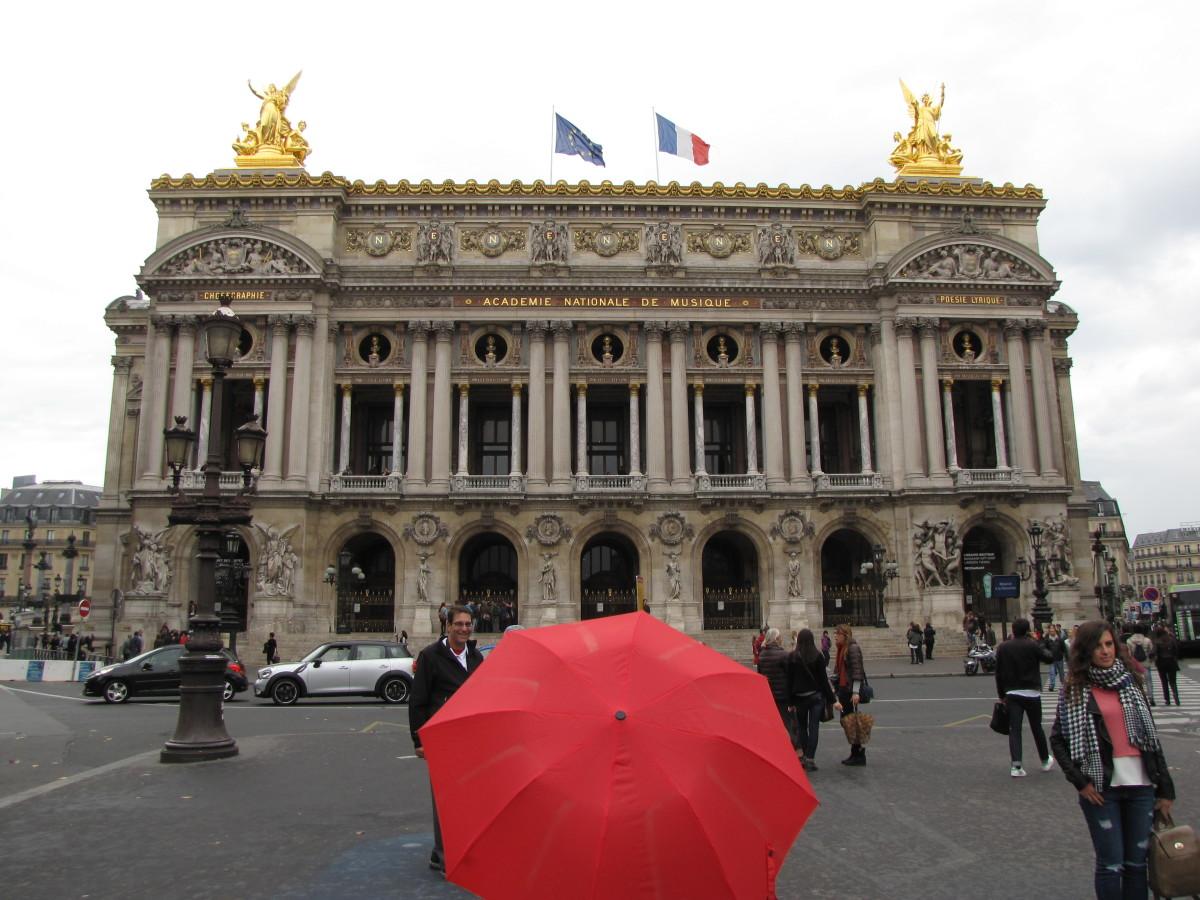 The nearby Paris Opera House