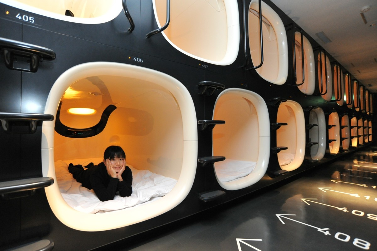Nine Hours' (9h) capsules are Japans most modern, brightest and high-tech capsules.