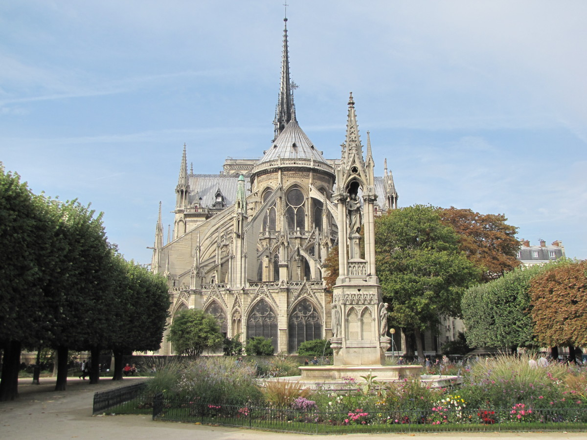 Notre Dame from Square Jean XXII