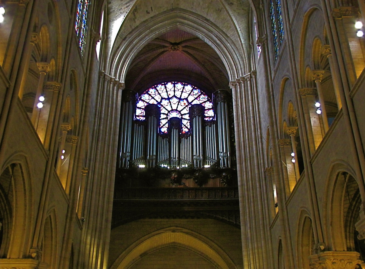 The Great Organ in front of the west rose window