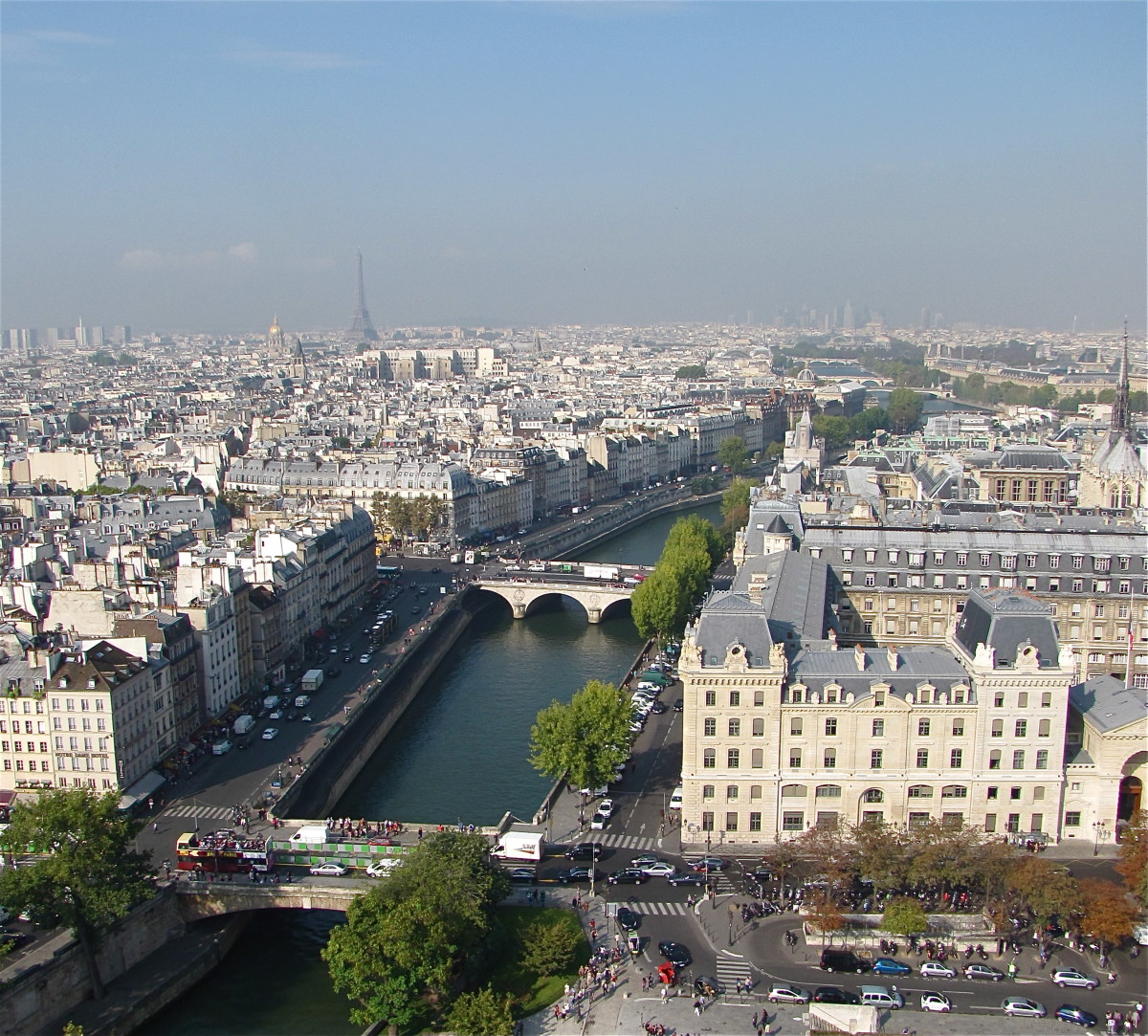 A view of Paris from the top of the Towers