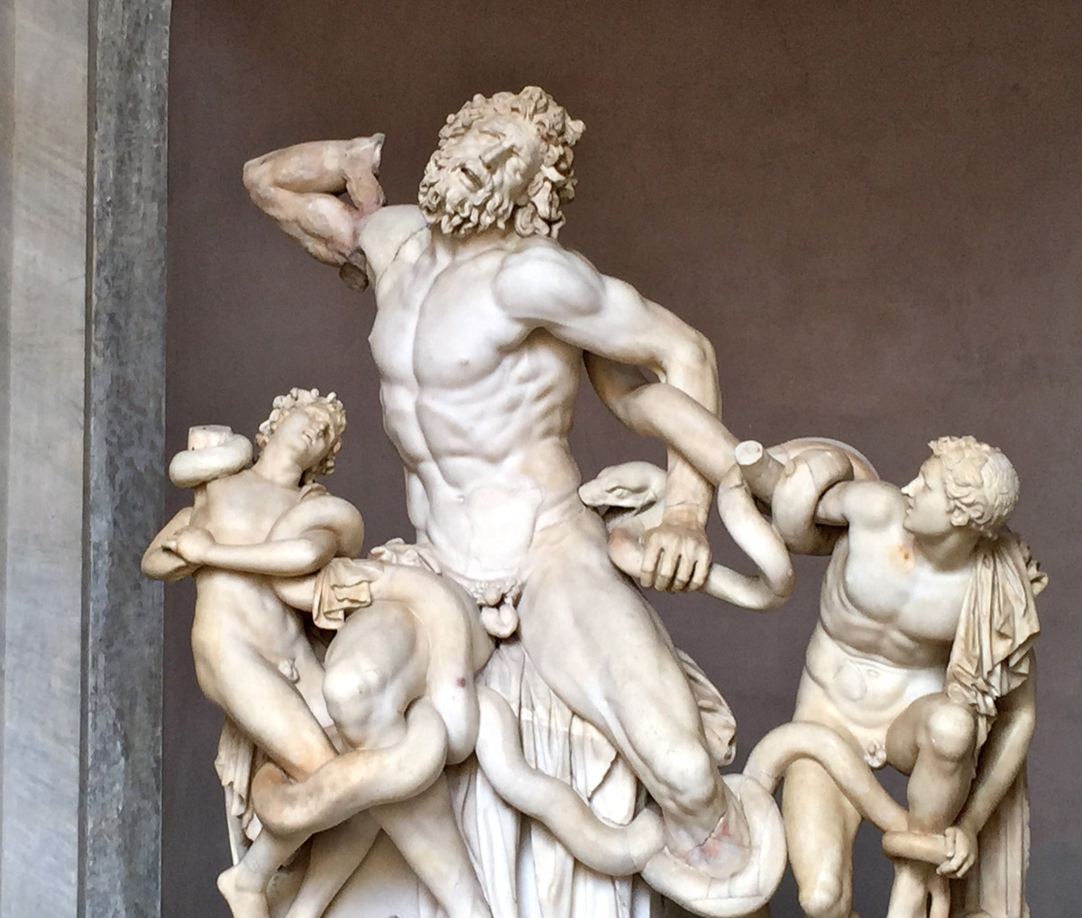 Laocoön estimated 40-30 B.C. (Pio Clementino Museum, Octagonal Court)