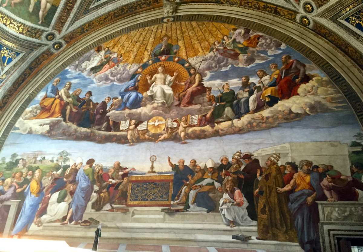 Raphael, Disputation of the Holy Sacrament (Raphael Rooms, Room of the Signature)
