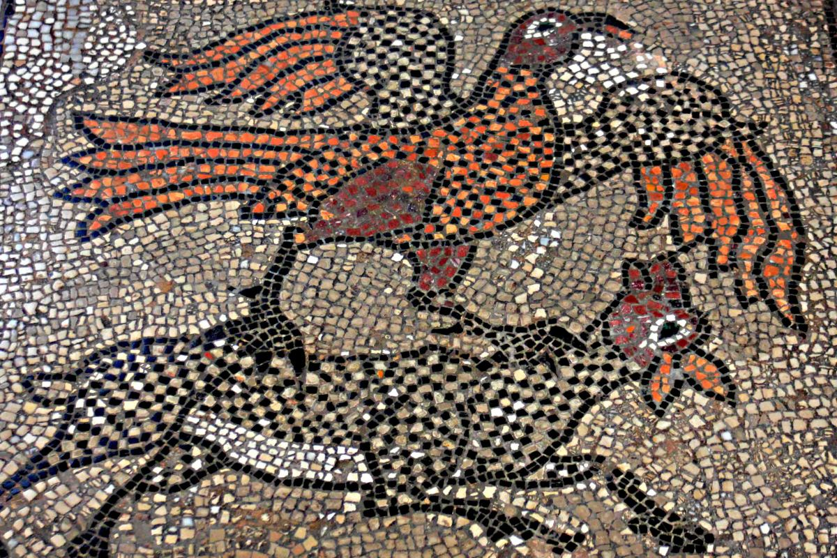 A detail from the floor mosaic. The symbolism is unknown