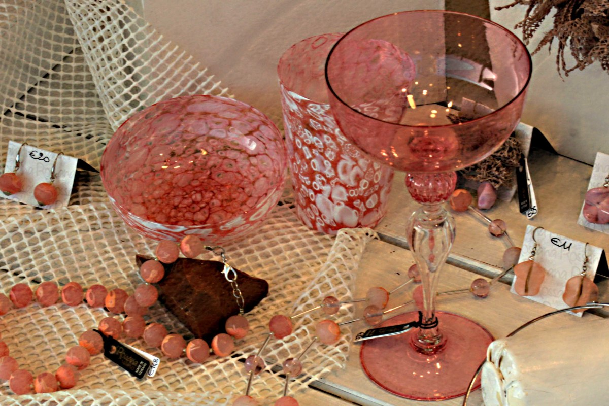A display of Murano glassware in one of the many retail outlets on the island
