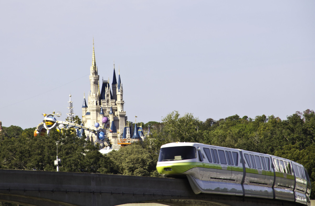 You can ride the monorail to the Magic Kingdom, through Epcot, or to the Grand Floridian, the Polynesian and the Contemporary Resorts.