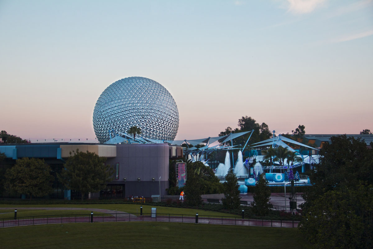 View of EPCOT from the monorail