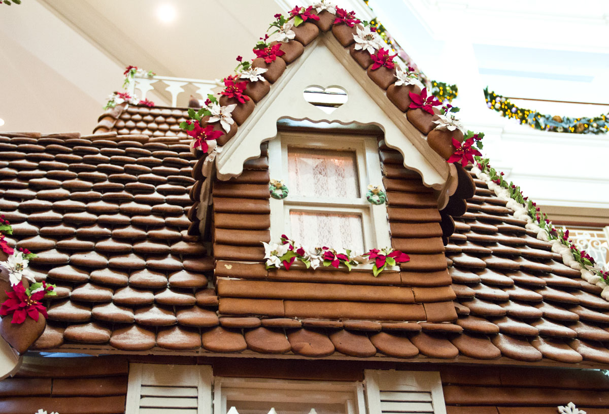 Enjoying the scenery in the Disney Resort Lobbies: Life-size Gingerbread House