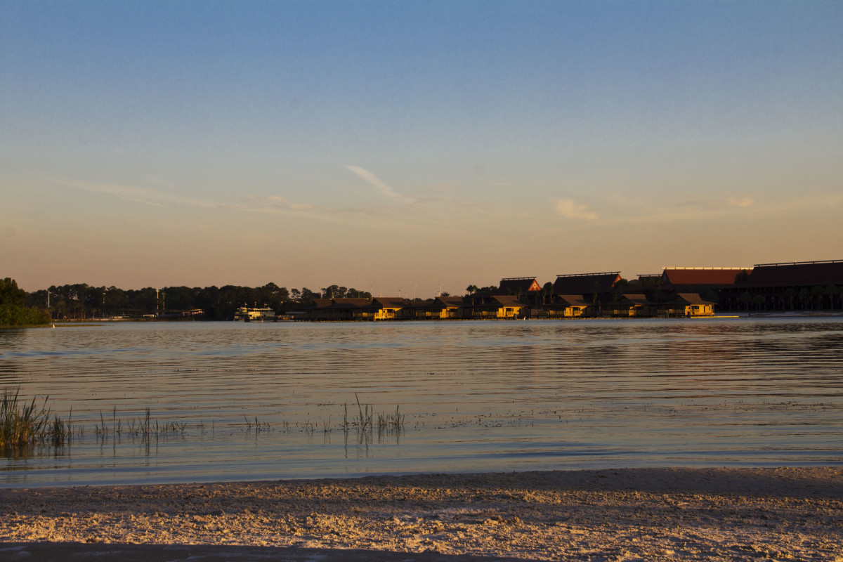 The beach behind the Grand Floridian Resort
