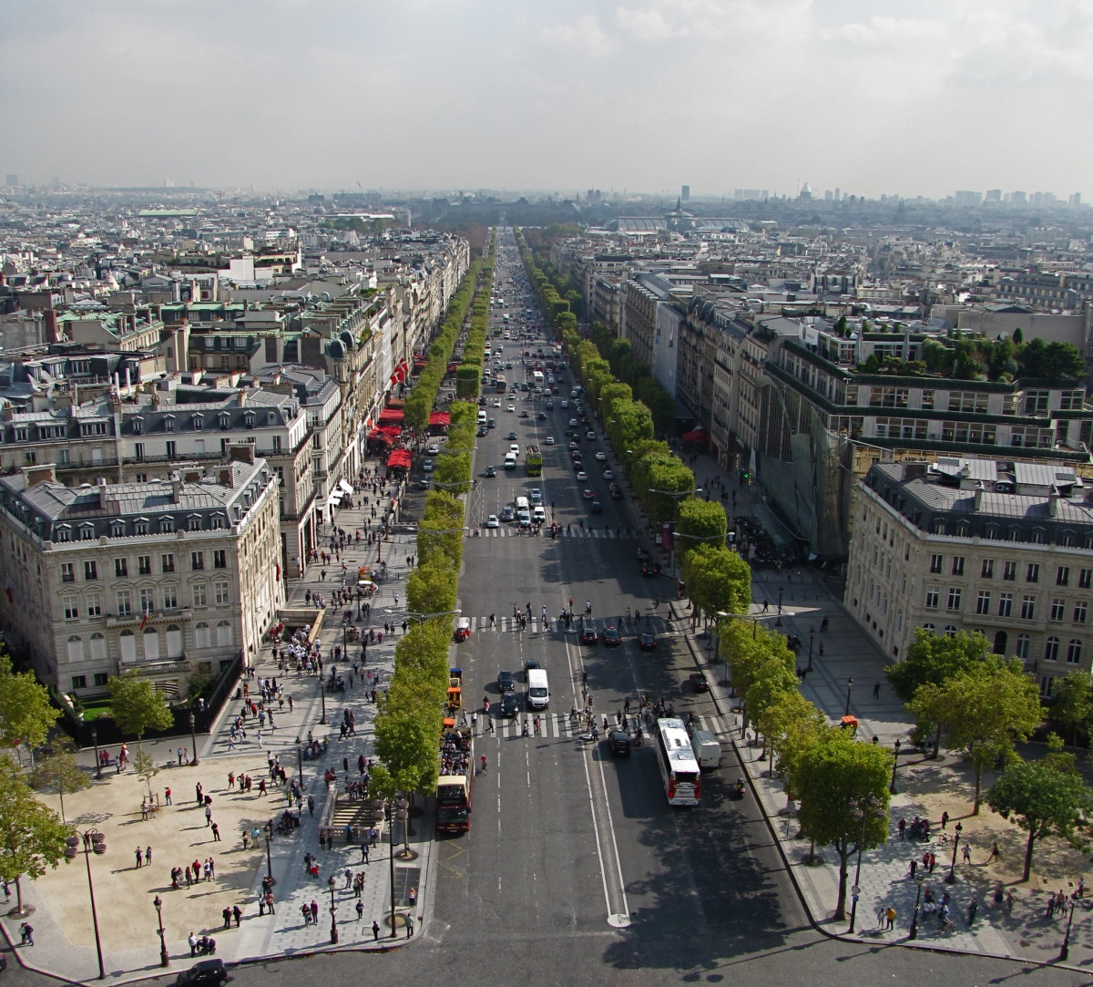 Champs-Elysees from top of Arc de Triomphe