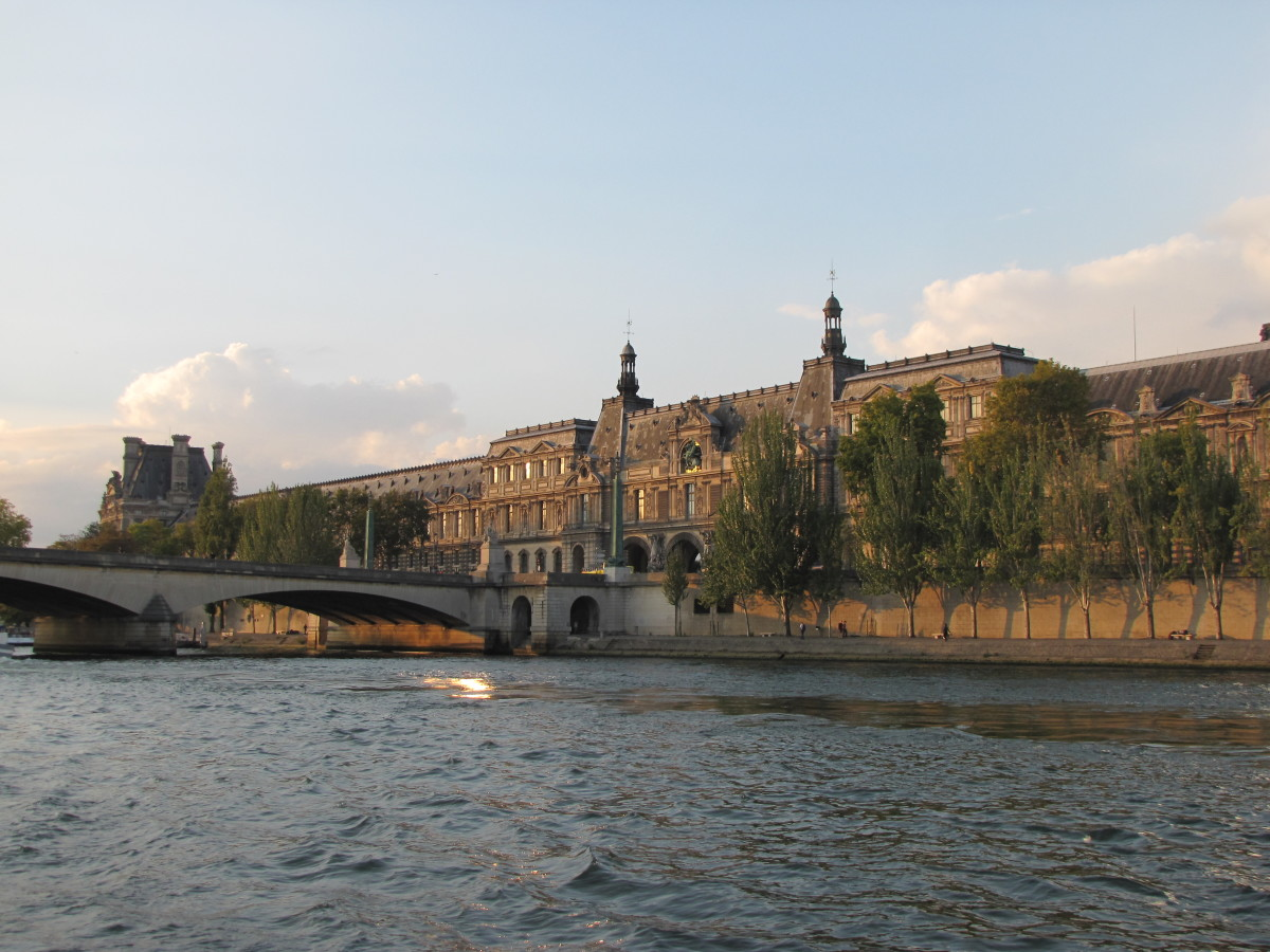 The Louvre from the River Seine