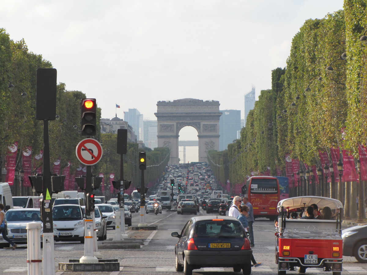Champs-Elysees looking toward the Arc de Triomphe