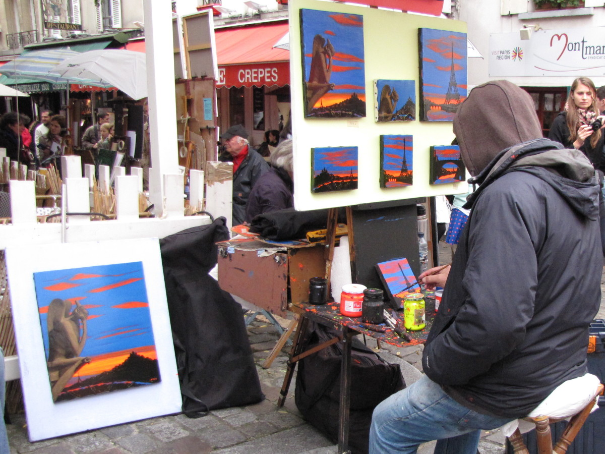 Outdoor Artists of Montmarte
