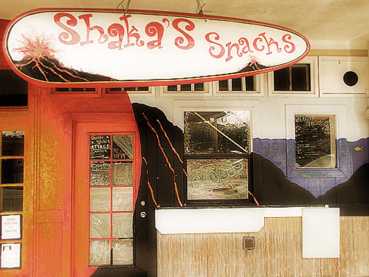 Shaka's Snacks Coffee Shop.
