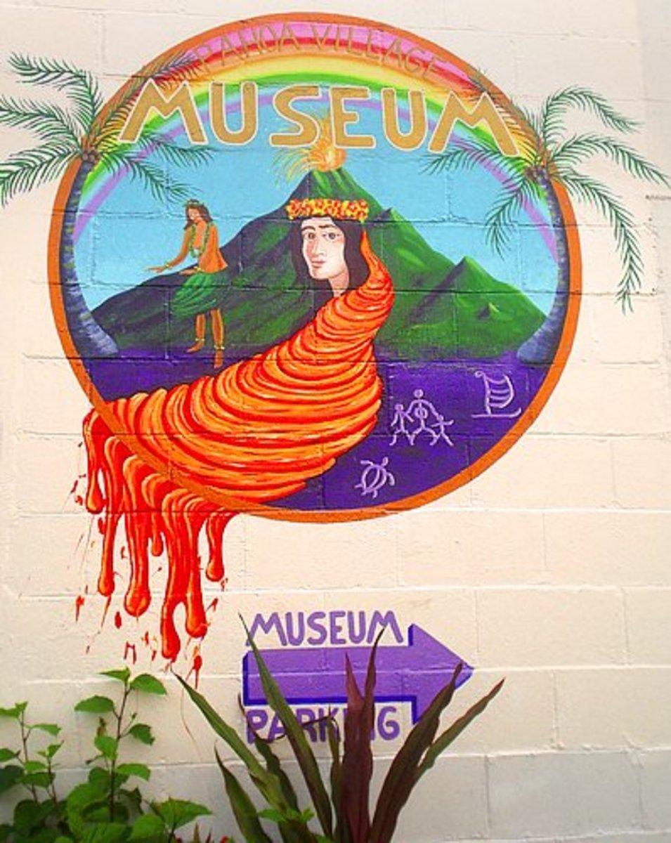 Mural outside Pahoa Museum.