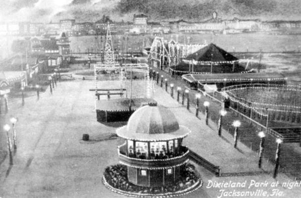 Dixieland Park in 1908. The park was located on the Southbank.