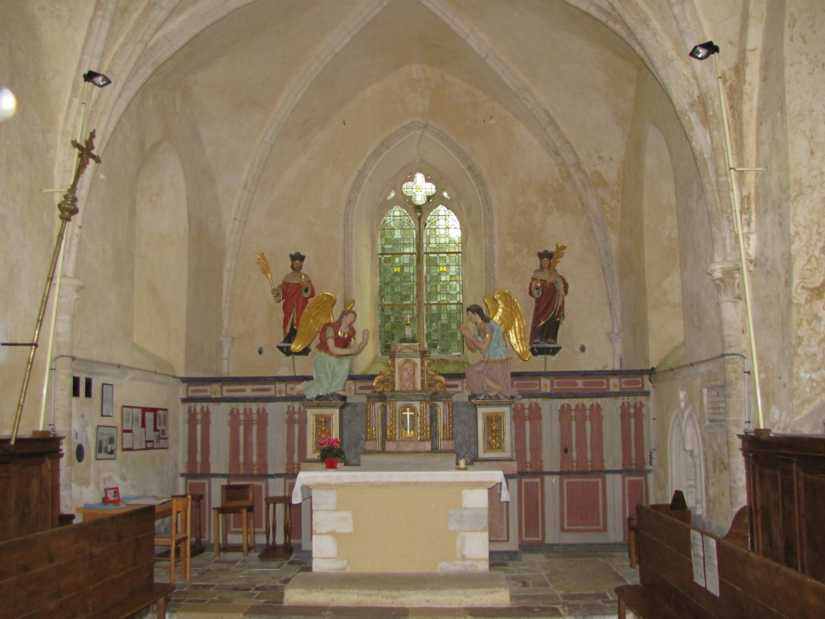 "Church Altar - Notice the two ""Angles of Mercy"""